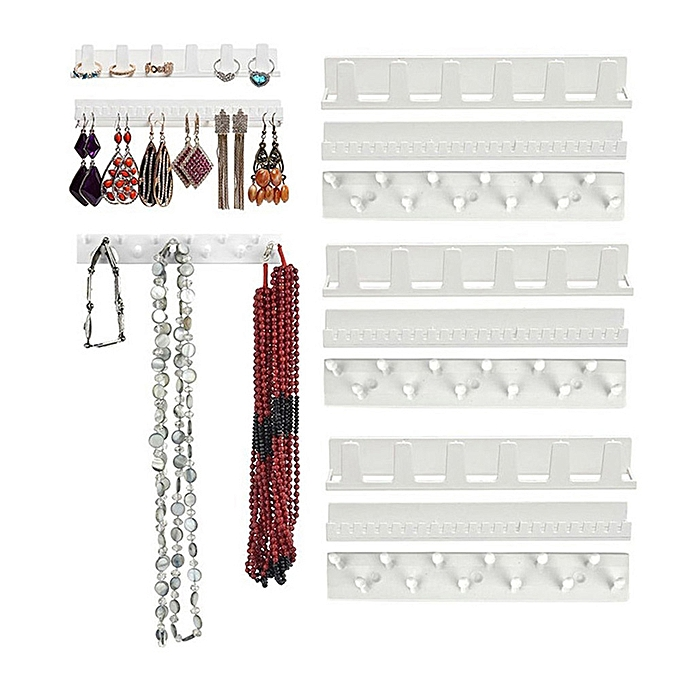 Other 3pcs Wall Mount Ring Bracelet Necklace Hanger Jewelry Organizer à prix pas cher