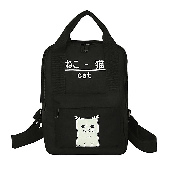 Fashion femmes Teenage Girl Boy Zipper Backpack School Bags Fashion Shoulder Bag à prix pas cher