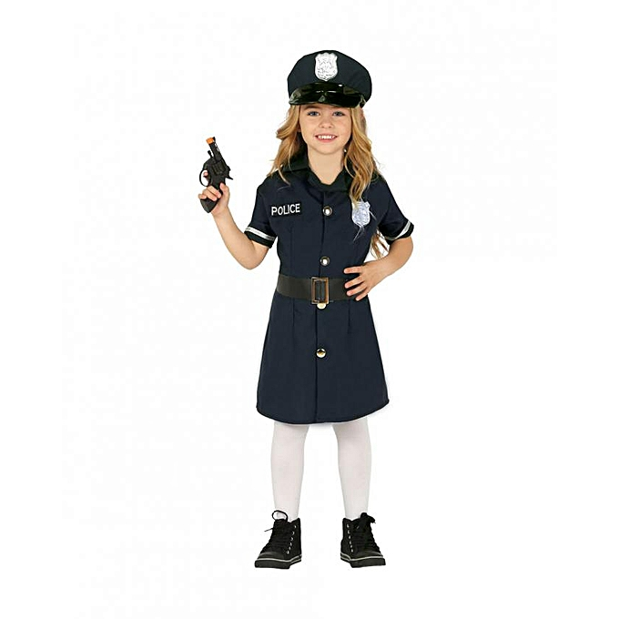 Generic Déguisement de policière pour fille (Taille 3 à 4 ans) à prix pas cher