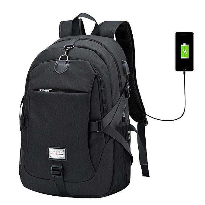 mode Tcetoctre 2017 Male Oxford Multifunction USB charging sac à dos College School sac à dos-noir à prix pas cher
