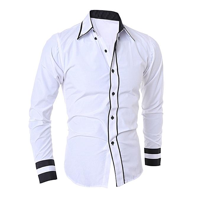 mode Hommes& 039;s sacgy Cotton Linen Soid Couleur manche longue Retro T Shirts hauts chemisier  -Army vert à prix pas cher