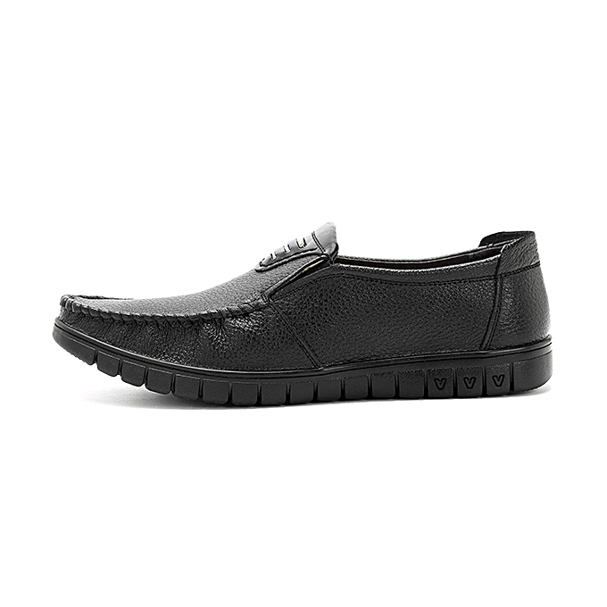 Fashion Soft Sole Comfy Genuine Leather Casual Business Slip On Oxfords for Men à prix pas cher