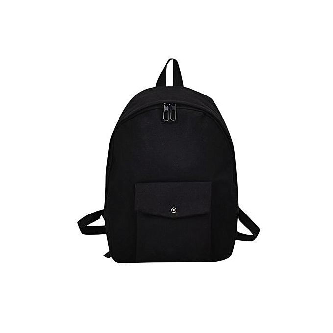 Fashion Hiamok Adult Backpack Teenage Girls Bogs School Backpack Bag Solid Pocket Students Bags à prix pas cher