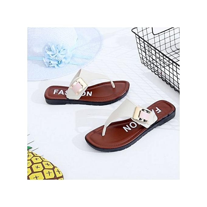 mode Xiuxingzi Décontracté plage femmes Slipper Sandals été Home Flat Flip Flops chaussures WH 37 à prix pas cher