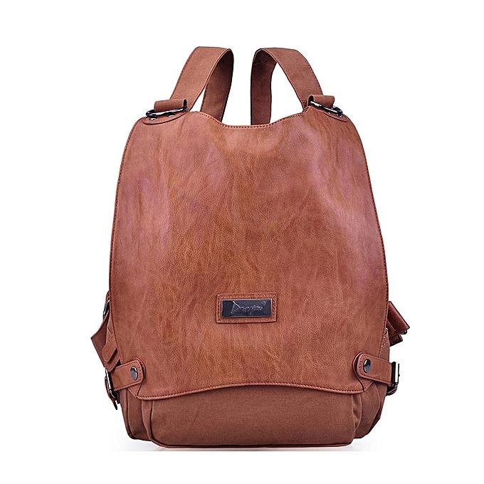 Fashion Backpack female Korean version of the casual trend dual-use shoulder Messenger bag marron à prix pas cher