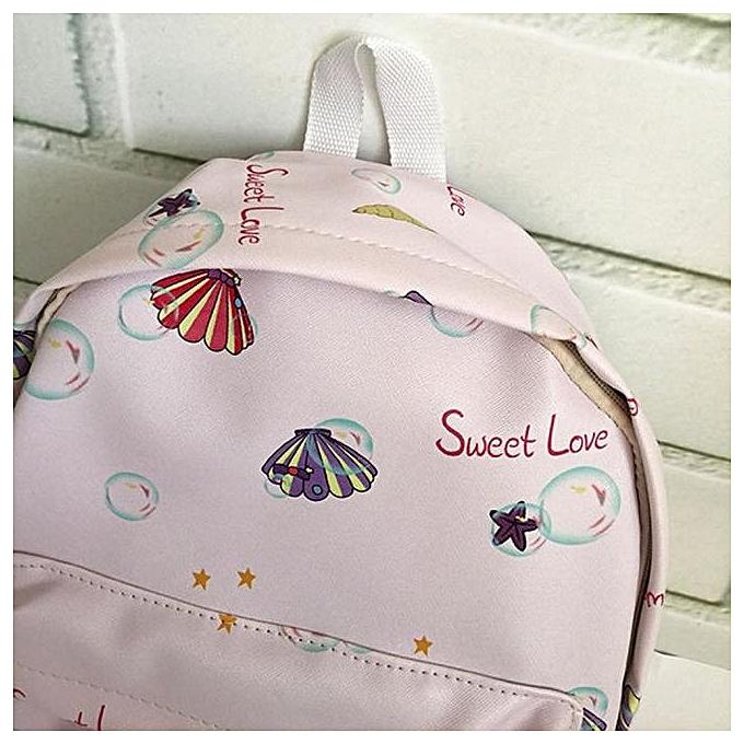 mode Tcetoctre femmes sacs sac à dos Girl School mode Shoulder sac  PK-rose à prix pas cher