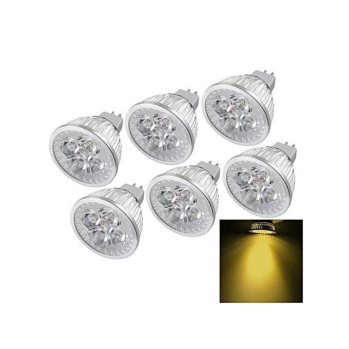 Sunsky 6 PCS YouOKLight MR16 4W 400LM Warm blanc Light Dimmable 4 LED Spotlight Bulb, DC 12V à prix pas cher