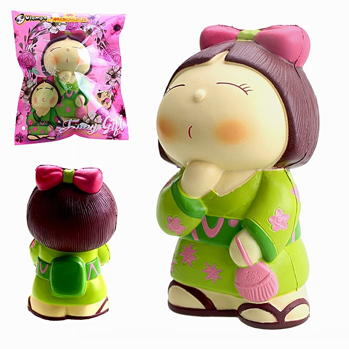 UNIVERSAL Vlampo AppleBlossoms Squishy Japan Kimono Girl Licensed SFaible Rising  Packaging Collection Gift Decor- à prix pas cher