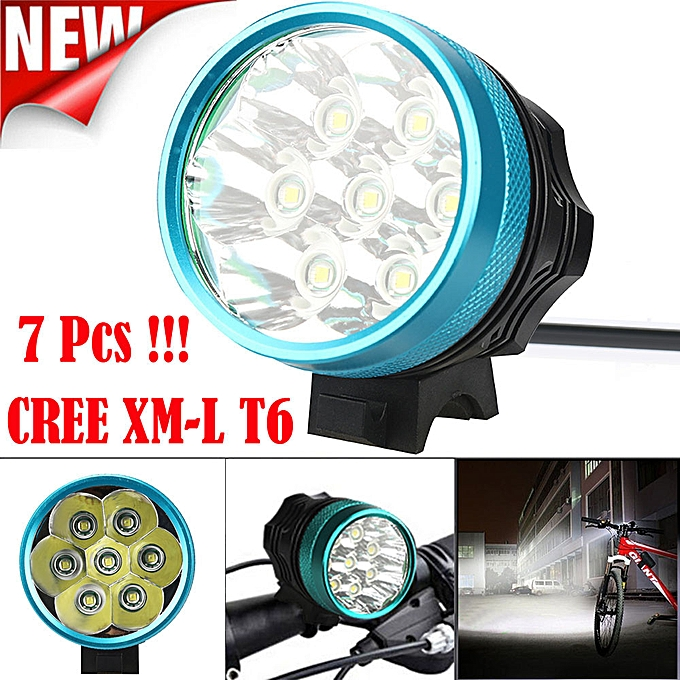 GENERAL quanxinhshang 15000LM 7 x XM-L T6 LED Bicycle Cycling Light Waterproof Lamp à prix pas cher
