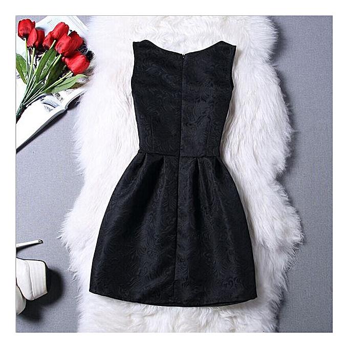 Fashion femmes Elegant Evening Casual Sleeveless A-Line Dresses BK M à prix pas cher
