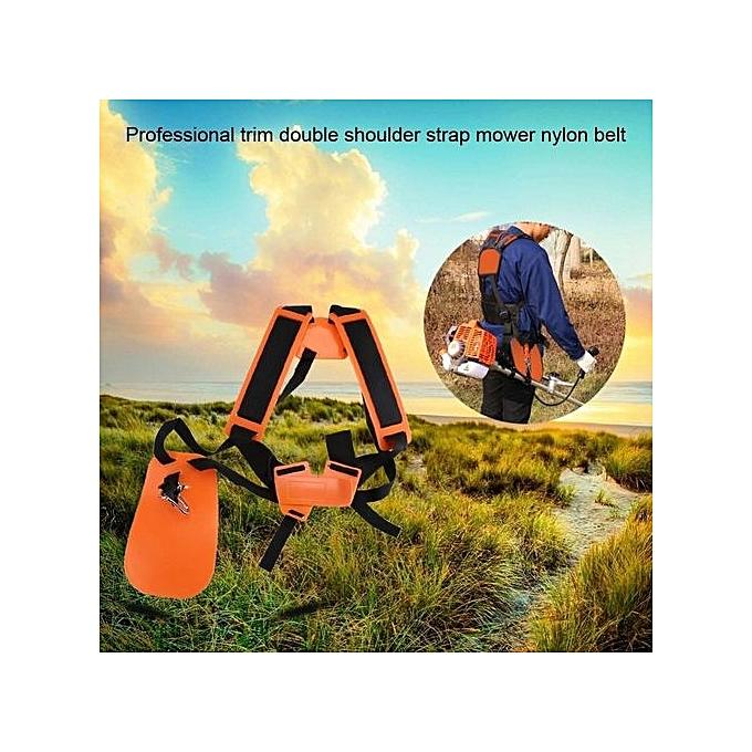 Other Professional Trimmer Double Shoulder Strap Mower Nylon Belt For Brush Cutter Garden Lawn à prix pas cher