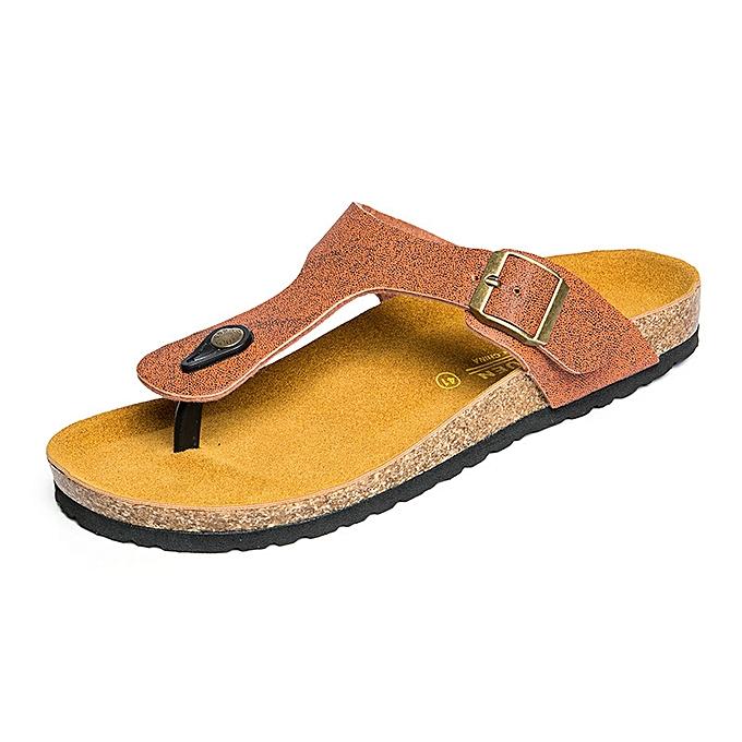 Fashion Men's Slippers Cork Fashion Slippers - Khaki à prix pas cher    Jumia Maroc