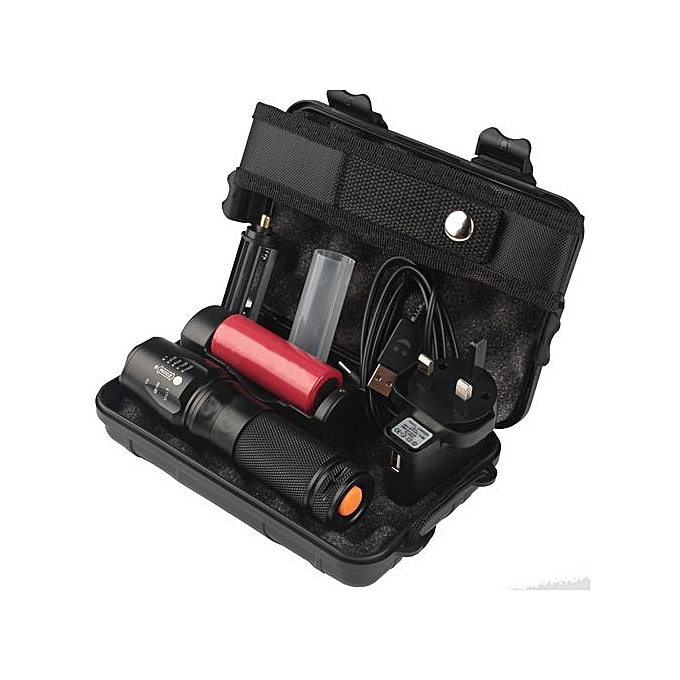 Generic 6000lm X800 Tactical Flashlight L2 LED Military Torch Kit à prix pas cher