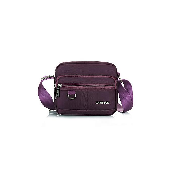 Other DIZHIGE Brand mode imperméable Uni Shoulder sacs High Quality femmes Nylon Décontracté Messenger Affaires Hommes's bandoulière sacs(violet horizontal) à prix pas cher