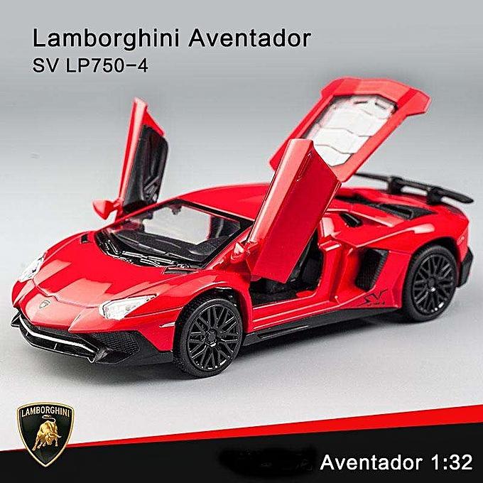 OEM nouveauLamborghini Aventador SV LP750-4 Pull Back Toy voitures 1 32 Scale Alloy voiture Model Toys à prix pas cher