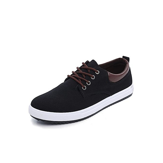 Generic Mens Casual chaussures Man Flats Breathable Mens Fashion Classic chaussures Mens Canvas chaussures-noir à prix pas cher    Jumia Maroc
