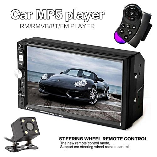 7 inch hd 2 din bluetooth touch screen car audio stereo fm for Housse retroviseur