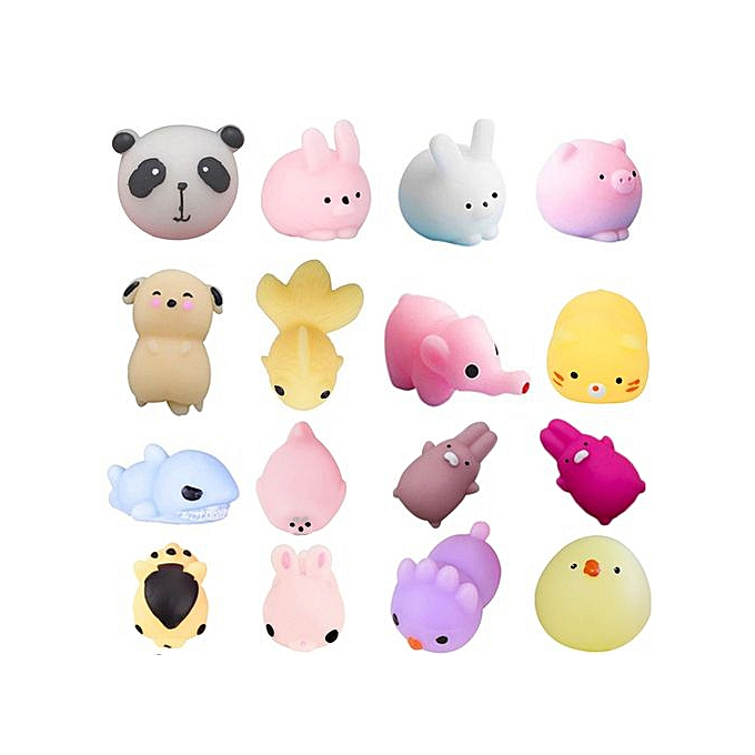 Generic Hiamok 16PC Mini Cute Squeeze drôle Toy Soft Stress And Anxiety Relief Toys DIY Decor à prix pas cher