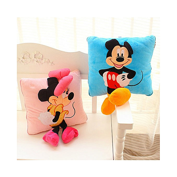 Autre 35cm Creative 3D Mickey Mouse and Minnie Mouse Plush PilFaible Kawaii Mickey and Minnie Plush Toys Enfants Toys Christmas Gifts (mickey) à prix pas cher