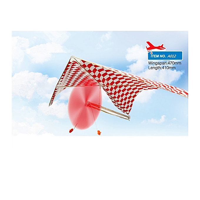 UNIVERSAL 5PCS ZT Rubber Powerouge Parasol Glider A012  Plane Assembly Model- à prix pas cher