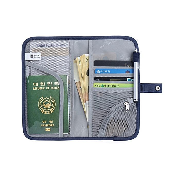 Fashion Portable Travel Zipper Passport Bags Waterproof Card Holder Coin Bags à prix pas cher