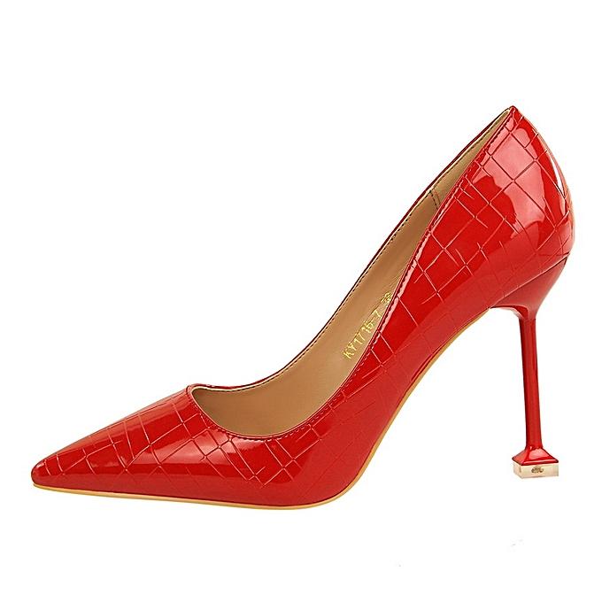 Fashion Chaussures à Talons pas Pour Femmes-Rouge à prix pas Talons cher  | Black Friday 2018 | Jumia Maroc 987853