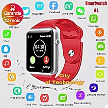 0acfdc6cad Smart watch AA Montre intelligente Connectée appel message bluetooth rouge  smart v8