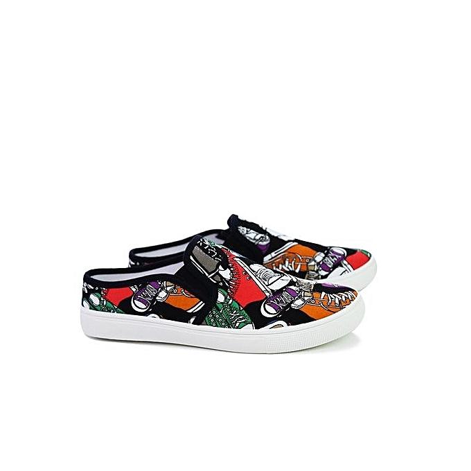 HT à   Breathable Graffiti Canvas Casual Shoes-Black à HT prix pas cher  | Jumia Maroc 8d47d0