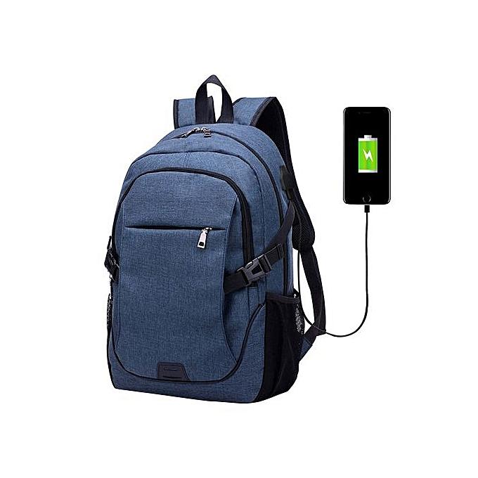 mode Singedanmode Trend Hommes Shoulder sac Leisure Affaires voyage Computer sac à dos -bleu à prix pas cher