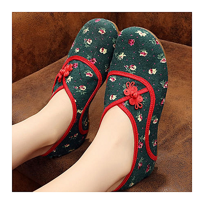 Fashion Folkways Flower Buckle Round Toe Casual Flat chaussures For femmes à prix pas cher    Jumia Maroc