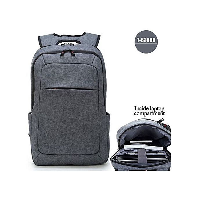 Generic Anti theft Men's Business Daily laptop Backpack gris à prix pas cher
