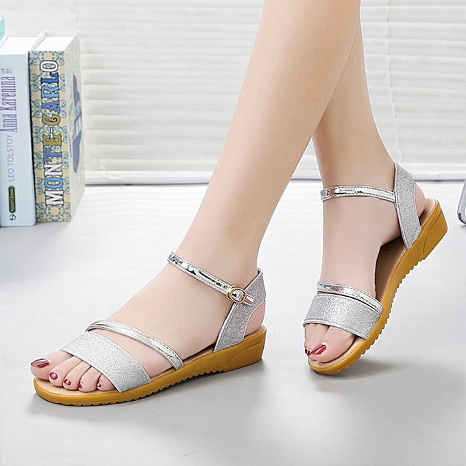 Fashion jiahsyc store Fashion femmes Summer Lady Causal Wedge Peep Toe Buckle Strap Leisure Sandals à prix pas cher