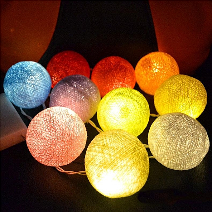 UNIVERSAL KCASA CSL-8 Gardening 5M 20LED String Light Cotton Shape Holiday Garden Party Wedding Decoration à prix pas cher