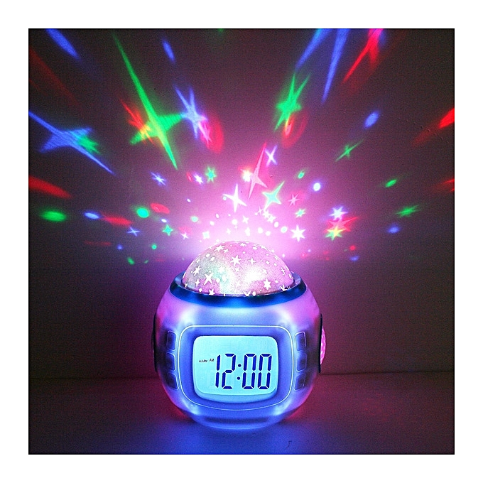 Other Music Starry Star Sky Digital Led Projection Projector Alarm Clock Calendar Thermometer horloge reloj despertador (blanc) FCJMALL à prix pas cher