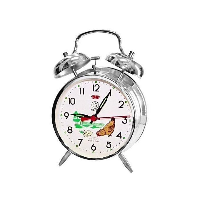 76c3ec037 الساعة الميكانيكية المنبه نمط الدجاجة المعدنيه المذهبة هدية على مدار الساعة  الهاتفي اليدوي 10 سم -