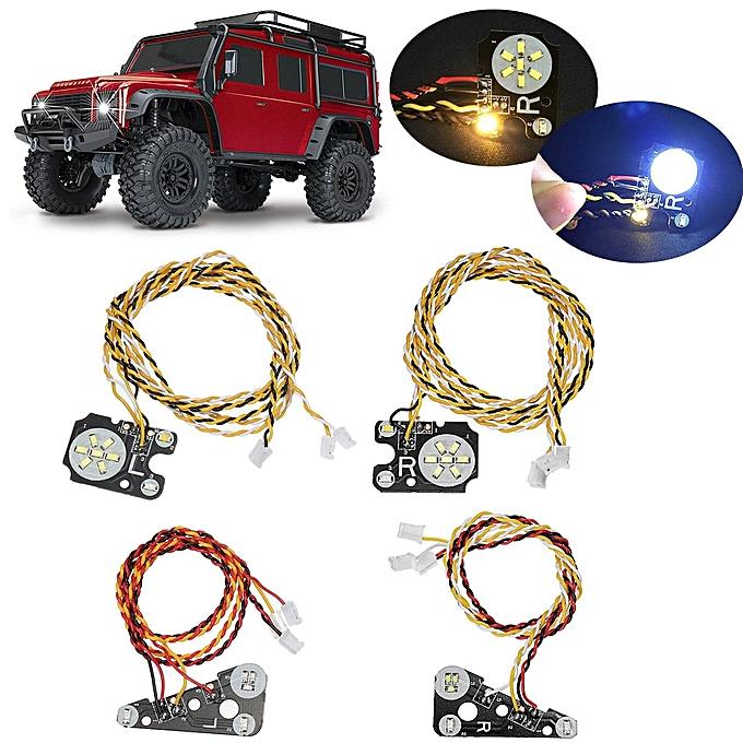 UNIVERSAL LED Front + Rear lumières Quick Start High Concentration For TRAXXAS Trx4 RC voiture à prix pas cher
