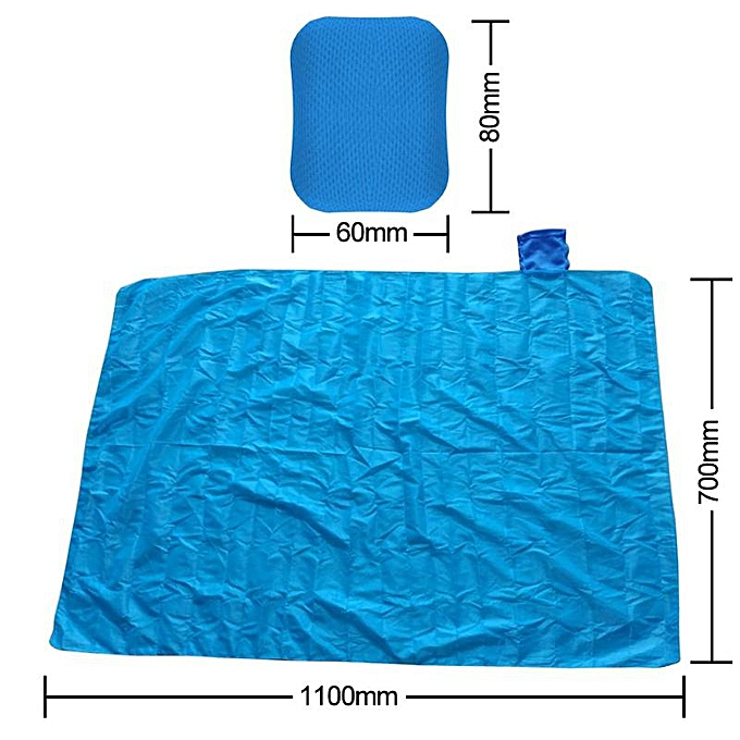 Generic Mini Picnic Pocket Mat Outdoor Folding Picnic Pocket Mat Waterproof Seabeach Mat (70x110cm)(bleu) à prix pas cher