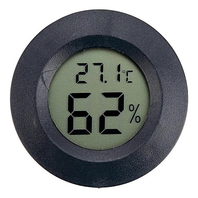 Other W-Toy Mini LCD Digital Thermometer Hygrometer Humidity Temperature Measurement Tool noir (noir) MQSHOP à prix pas cher