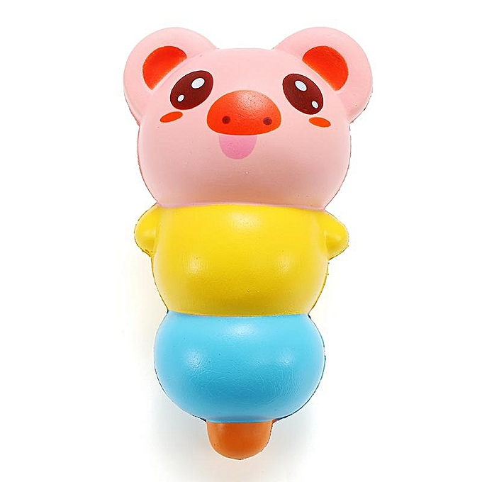 UNIVERSAL LeiLei Squishy 15cm Pierced Haw Berries Candy Stick Bear Pig Slow Rising With Packaging Gift à prix pas cher