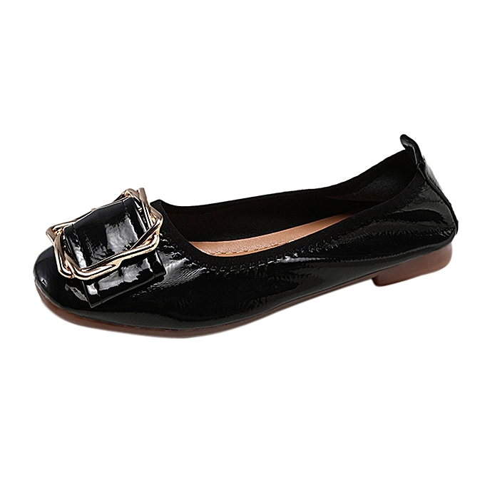 Fashion Blicool chaussures Flat chaussures femmes Flexible Spring chaussures Flats chaussures Peas chaussures Lazy Casual chaussures noir à prix pas cher    Jumia Maroc
