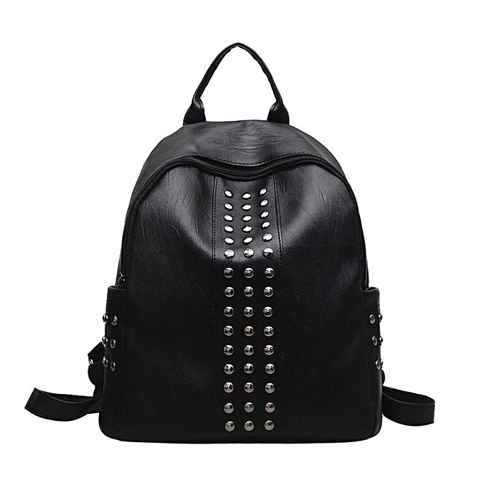 OEM mode femmes Girl cuir sac à dos Rivet Decoration voyage sac à dos School sac à prix pas cher
