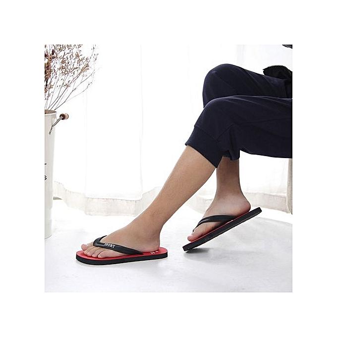 Fashion Jiahsyc Store Men's Summer Flip-flops Slippers Beach Sandals Indoor&Outdoor Leisure chaussures-rouge à prix pas cher    Jumia Maroc