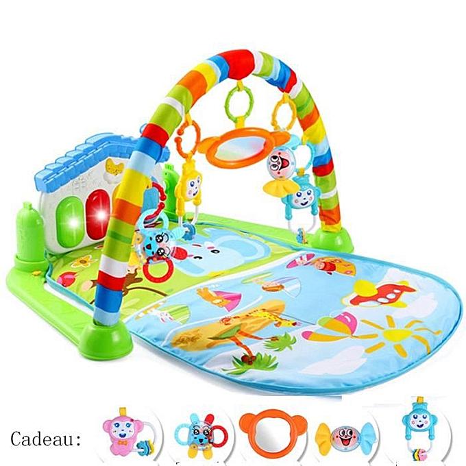 A ta Sant 3 en 1 bébé Piano Tapis de jeu Tapis de jeu Musique et lumières à prix pas cher