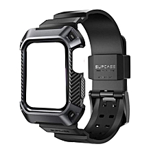 c9f34f3138c97 Supcase UB Pro Rugged Protective Wristband Case for Apple Watch Series 4 -  44mm (Black