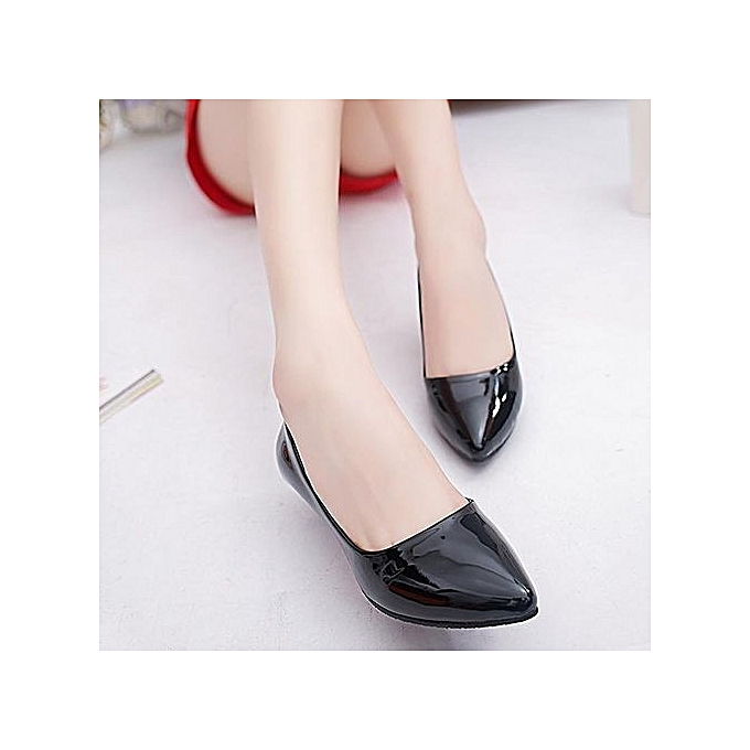 Fashion WoHommes  Thin Heels Pumps Shallow Pointed Toe à Low Heels Office Formal Shoes -Black à Toe prix pas cher  | Black Friday 2018 | Jumia Maroc 32d8cd