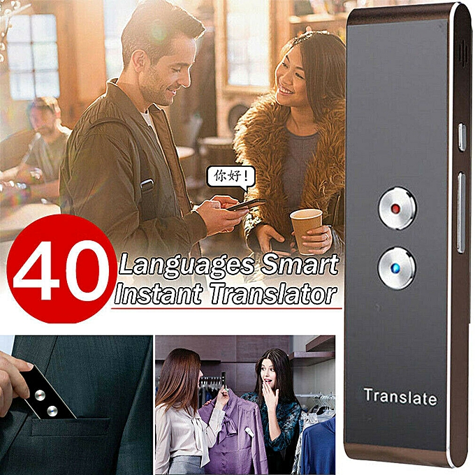Other Smart Voice Translator Portable Two Way Real Time Multi Language Translation 750mA QLANG à prix pas cher