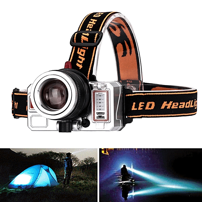 Generic Haojks Waterproof T6 LED 2200Lm Zoomable Bicycle Headlamp High Power Headlight à prix pas cher