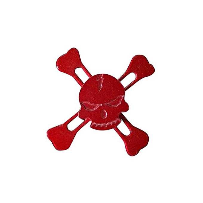 UNIVERSAL Fangfang Pirate Alloy Hand Spinner Skull Heads Fidget Spinners Torqbar Spiral Spinners Finger Gyro Decompression Toys - rouge à prix pas cher