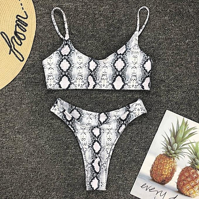 Autre 2019 Sexy Leaf Bikinis femmes maillot de bain Female High Leg été plage Bathing Suit maillot de bain Biquinis Waist maillot de bain( 7) à prix pas cher