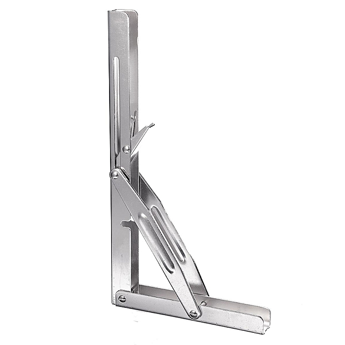 UNIVERSAL Stainless Steel Folding Shelf Bench Table Bracket Heavy Duty 250kg   per Load à prix pas cher